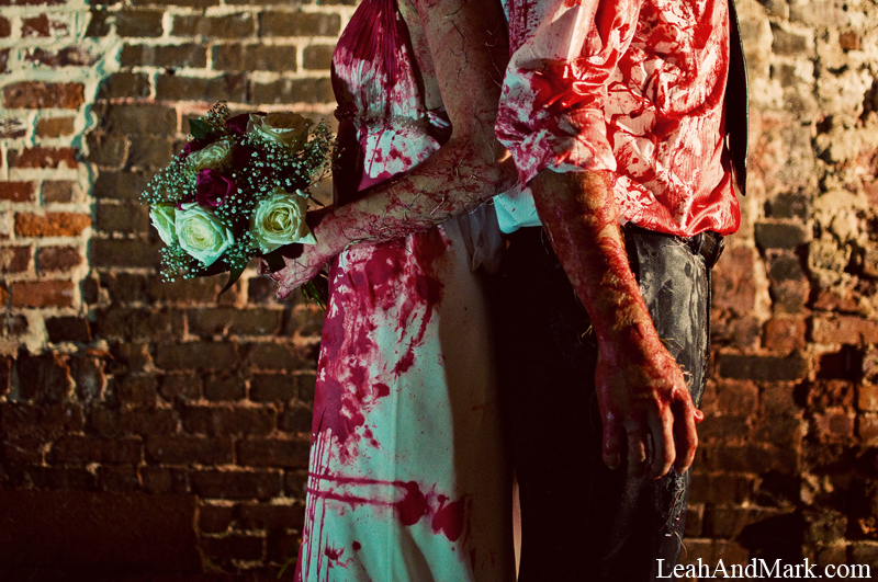 LeahAndMark.com | Atlanta Wedding Photographer | Halloween | Blood
