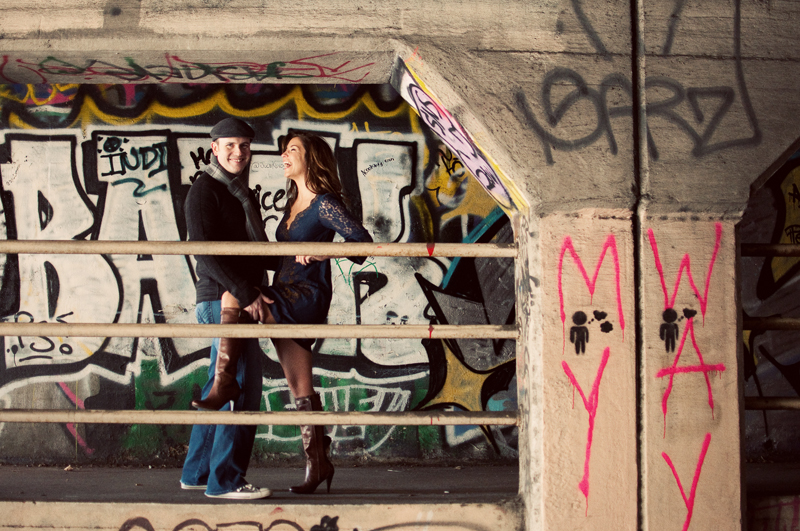 Atlanta Wedding Photographer | Engagement Session | Krog Tunnel | Oakland Cemetary | Vintage | Modern | LeahAndMark.com