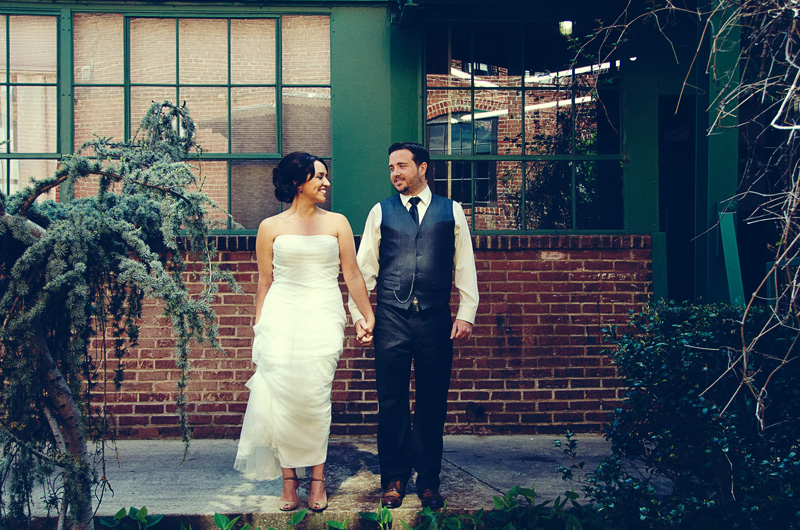 Atlanta Wedding Photographer | LeahAndMark.com | Vintage Modern | King Plow Arts Center