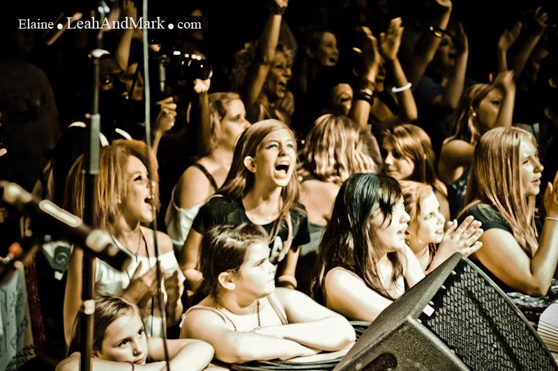 teen girls at concert