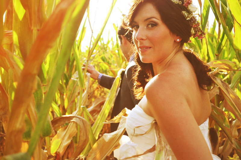 Mistake #98 � not including Iowa cornfields into your wedding portrait session.
