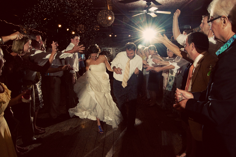 wedding songs and a couple exits