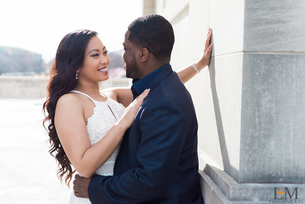 Atlanta; Millenium Gate Museum; Atlantic Station; Engagement Session; LeahAndMark & Co.